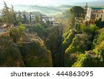 ronda  andalusia  spain. old... | Shutterstock . vector #444863095