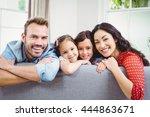 portrait of happy family...   Shutterstock . vector #444863671