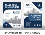 blue color scheme with city... | Shutterstock .eps vector #444878509