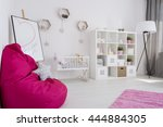 bright and spacious baby girl's ... | Shutterstock . vector #444884305