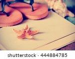 closeup of a yellow starfish... | Shutterstock . vector #444884785