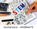 stem education. science... | Shutterstock . vector #444886675