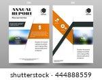 annual report leaflet brochure...   Shutterstock .eps vector #444888559