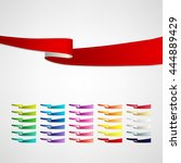 vector ribbons set | Shutterstock .eps vector #444889429