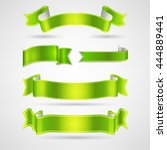 vector ribbons set | Shutterstock .eps vector #444889441