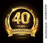 celebrating 40 years... | Shutterstock .eps vector #444892999