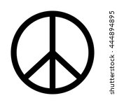 peace sign. | Shutterstock .eps vector #444894895