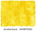 yellow or amber watercolor...   Shutterstock . vector #444895381