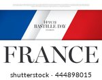 france. 14 th of july. happy... | Shutterstock .eps vector #444898015