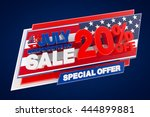 4th july independence day sale... | Shutterstock . vector #444899881