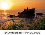 sunset at bali's famous tanah... | Shutterstock . vector #444902401