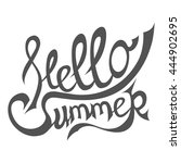 hello summer phrase.... | Shutterstock .eps vector #444902695