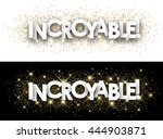 amazing paper banner with... | Shutterstock .eps vector #444903871