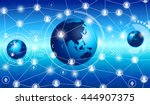 technology network connection... | Shutterstock .eps vector #444907375