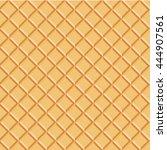 seamless texture of waffles.... | Shutterstock .eps vector #444907561