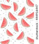 watermelon pattern | Shutterstock .eps vector #444916447