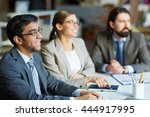 seminar for managers | Shutterstock . vector #444917995