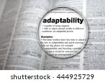 Small photo of Concept design for the word 'Adaptability'.