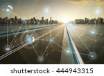 smart city and wireless... | Shutterstock . vector #444943315