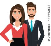 elegant businesspeople ... | Shutterstock .eps vector #444943687