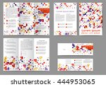 set of color abstract brochure... | Shutterstock .eps vector #444953065