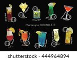 vector illustration of cocktail ... | Shutterstock .eps vector #444964894