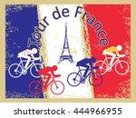 vector cycling illustration  ... | Shutterstock .eps vector #444966955
