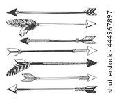 arrow set in native american... | Shutterstock .eps vector #444967897