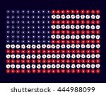 the national flag of flowers.... | Shutterstock .eps vector #444988099