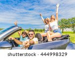 group of friends taking a... | Shutterstock . vector #444998329