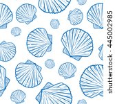 sea seamless pattern with... | Shutterstock .eps vector #445002985