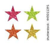 glitter star vector. star shape.... | Shutterstock .eps vector #445011391