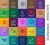 network icons set   isolated on ... | Shutterstock .eps vector #445027375