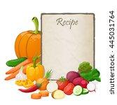 recipe card. kitchen note blank ... | Shutterstock . vector #445031764
