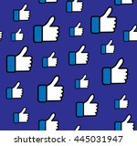 blue button hand like icon...