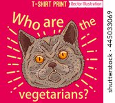 who are the vegetarians  fright ... | Shutterstock .eps vector #445033069