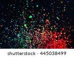 colorful paint dancing splash. | Shutterstock . vector #445038499