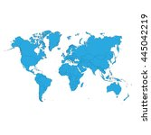 world map. vector illustration.  | Shutterstock .eps vector #445042219