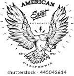 american spirit monochrome... | Shutterstock .eps vector #445043614