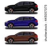 realistic car. suv | Shutterstock .eps vector #445057375