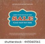 vector vintage stitched banner... | Shutterstock .eps vector #445060561