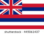 vector image of hawaii state... | Shutterstock .eps vector #445061437