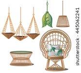 interior design in tropical... | Shutterstock .eps vector #445062241