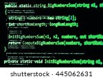 Programming Code   Green Color  ...