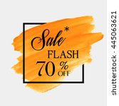 special flash sale 70  off sign ... | Shutterstock .eps vector #445063621