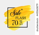 special flash sale 70  off sign ... | Shutterstock .eps vector #445063879