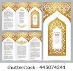 ornate vintage booklet with... | Shutterstock .eps vector #445074241