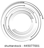 concentric  circular arrows.... | Shutterstock .eps vector #445077001
