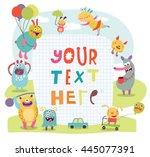 funny monsters vector | Shutterstock .eps vector #445077391