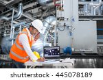electrical engineer working at... | Shutterstock . vector #445078189